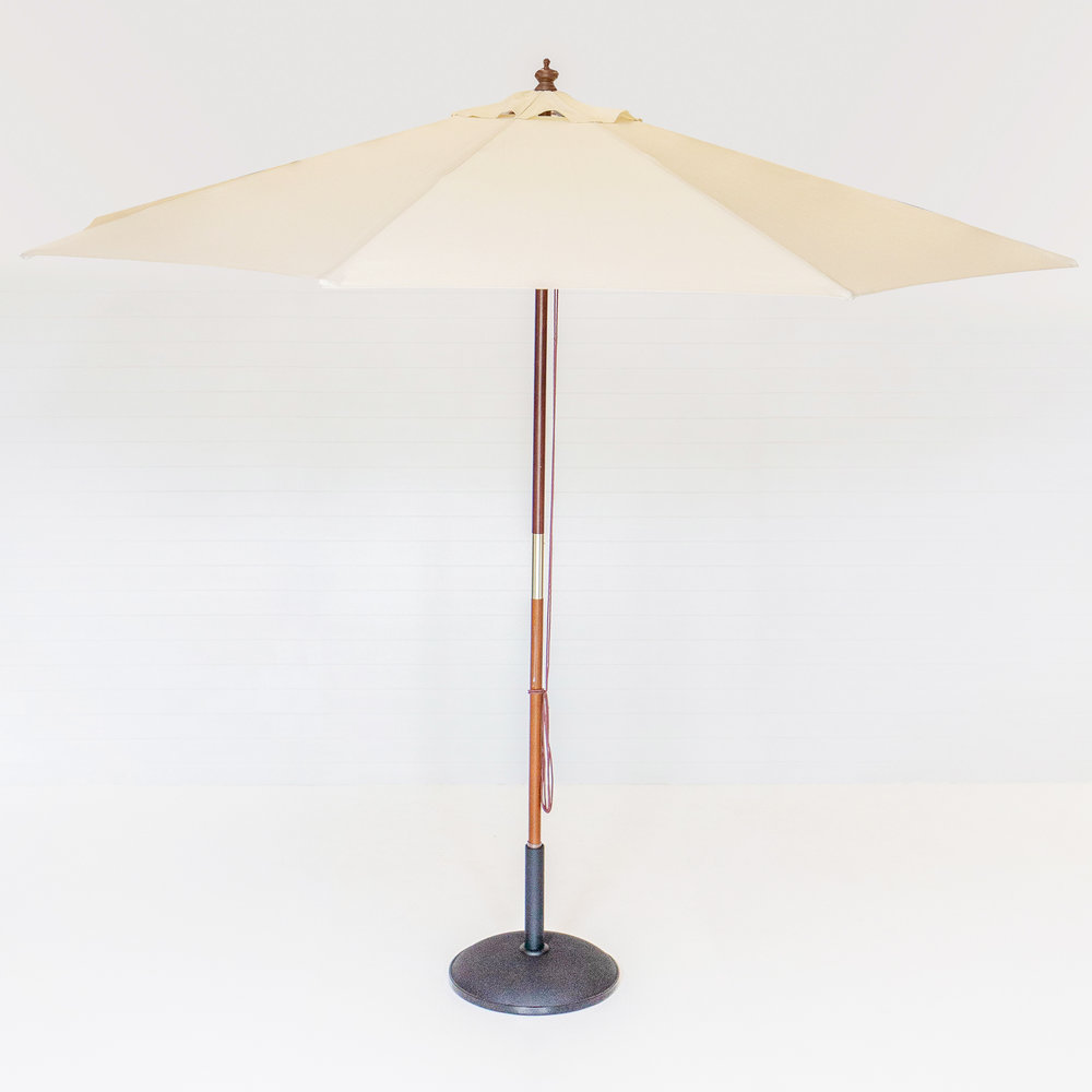 Large White Market Umbrella