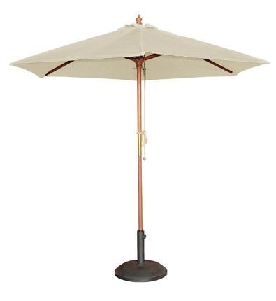 Natural White Market Umbrella