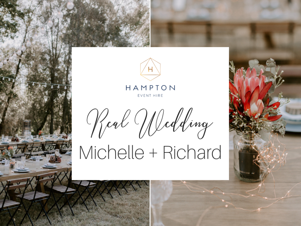 Real Wedding: Michell + Richard, Country-Bohemian DIY Wedding Styling at Brisbane | Hampton Event Hire