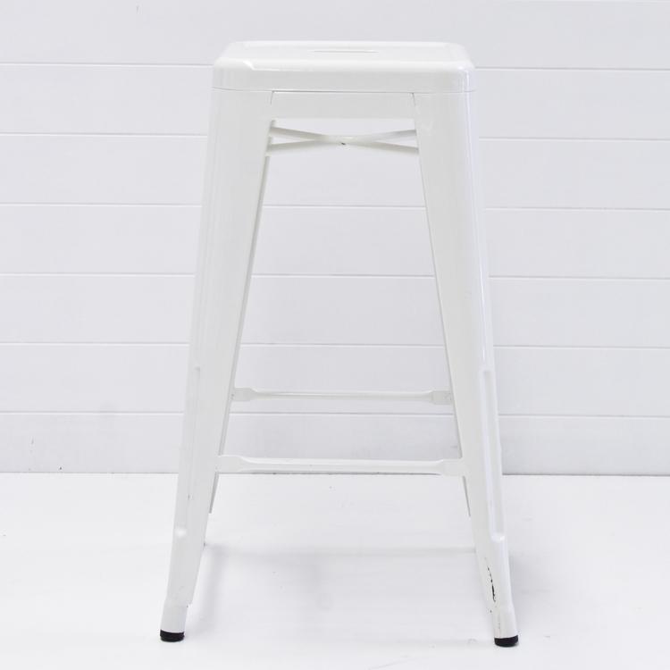 WHITE TOLIX BAR STOOL