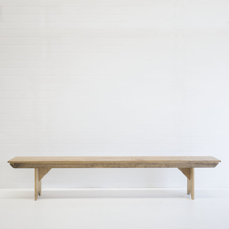 NATURAL TIMBER BENCH SEAT