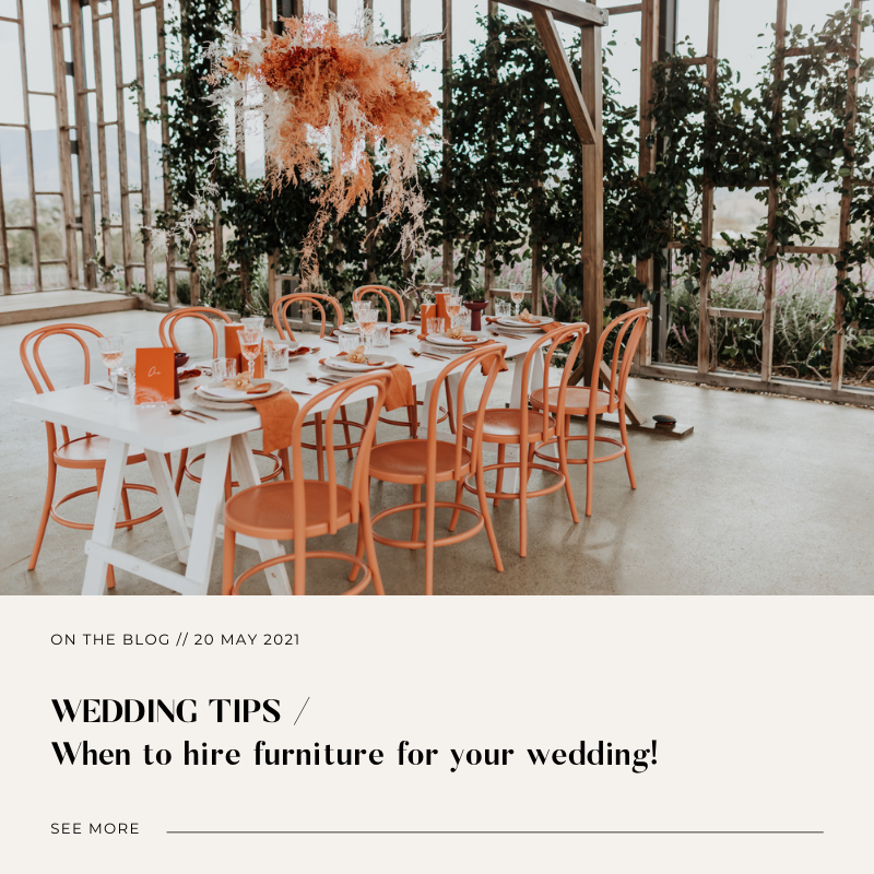 When to hire furniture for your wedding a 12 month timeline