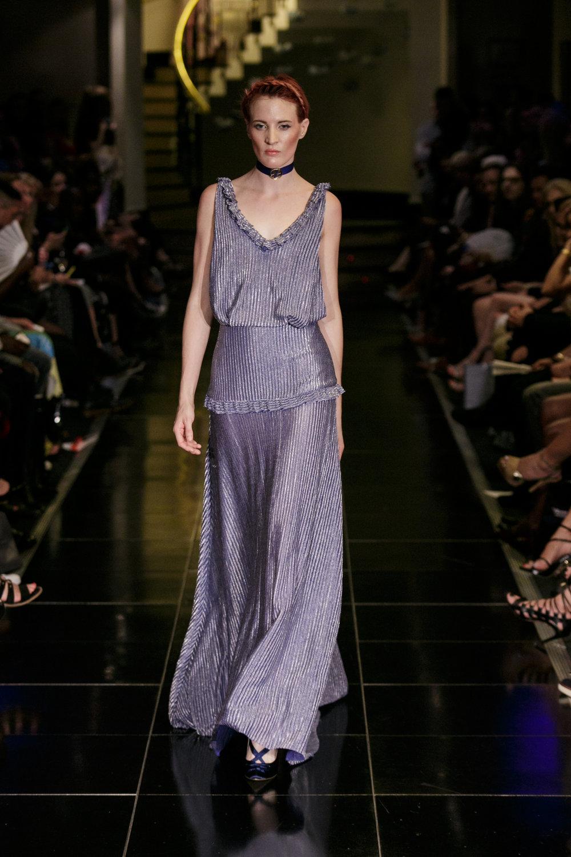 Indulgent Blue Roman V Neck Backless Gown — Kolchagov Barba
