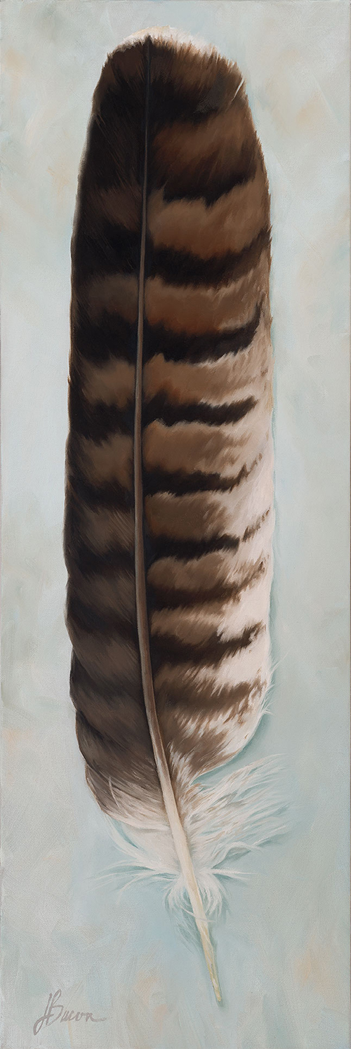 "Red Tail Hawk Spirit  24""x36  Oil on canvas"