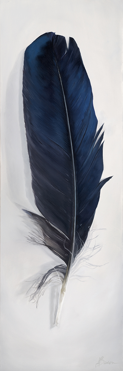 "Raven Spirit   12"" x 36""  Oil on canvas"