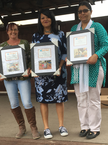 Presenting the 2018 recipientsof the Nira Changwatchai Living the Mission Award:Catherine Knowles (Central)LaToya Payne (M Station)and Samra Butt (East) - WE LOVE OUR TEACHERS!