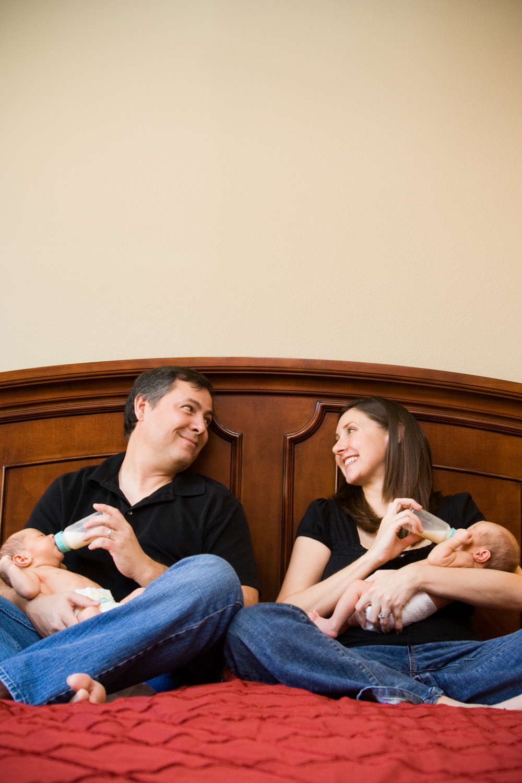 Newborn Twins Family