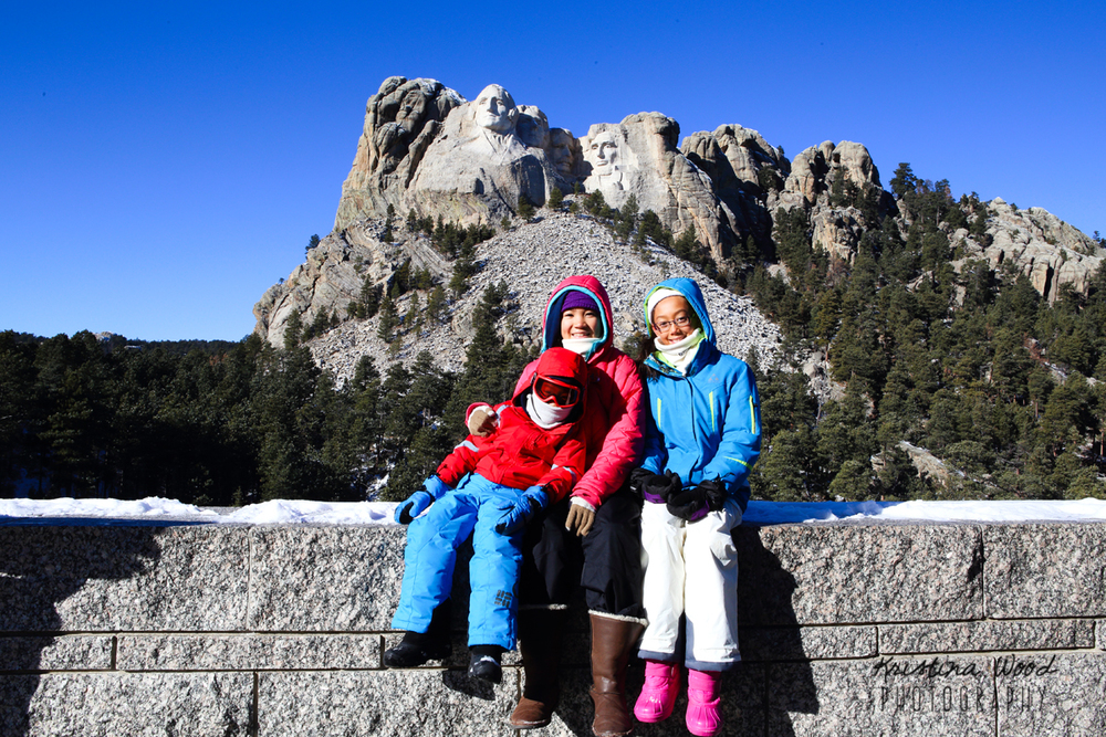 Kids at Mt. Rushmore