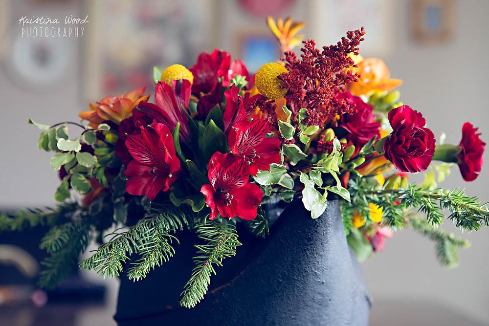 flowers in teapot