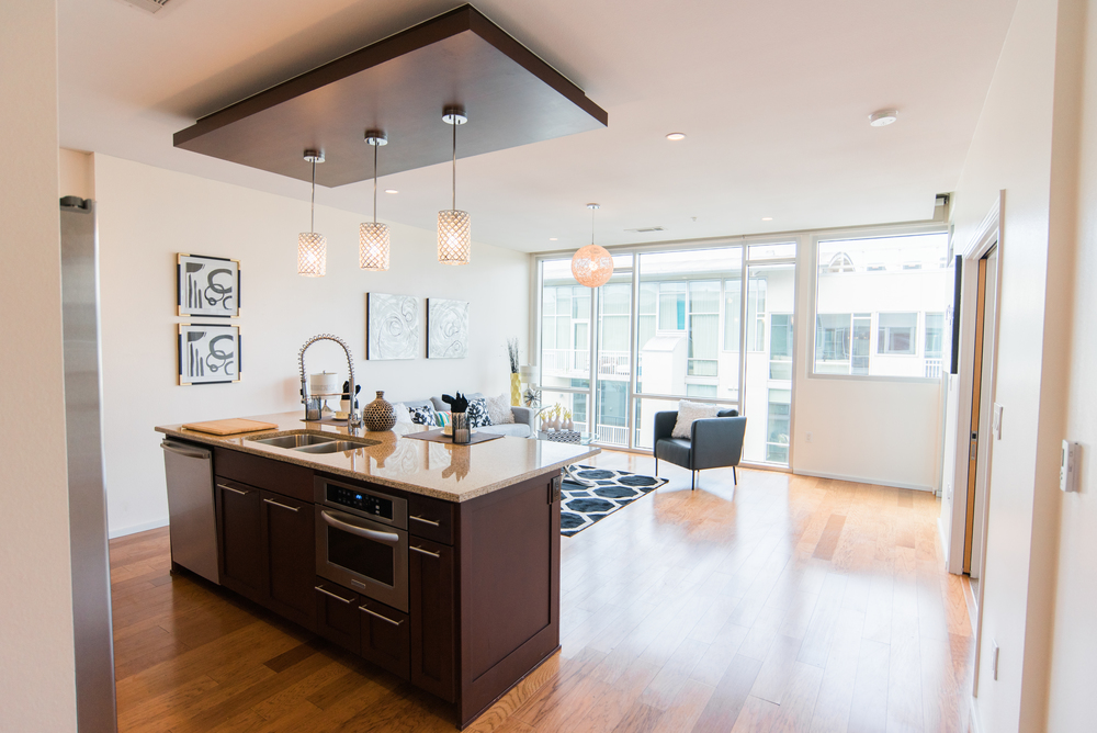 Great layout - wide open spaces with floor to ceiling windows!