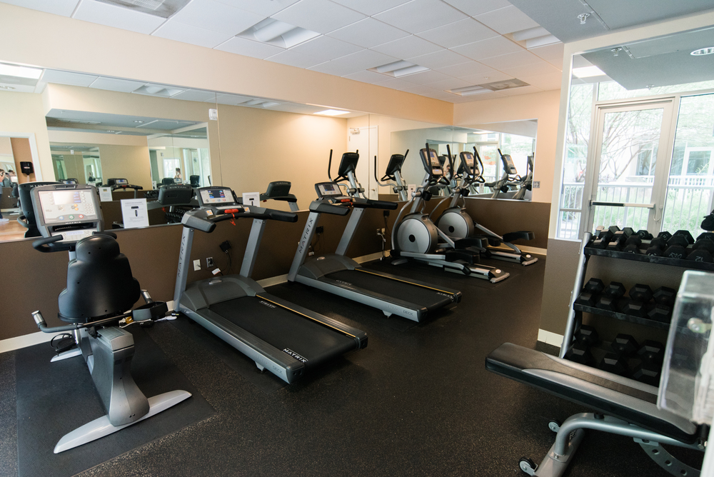Workout facility with plenty of equipment to keep you fit and looking great