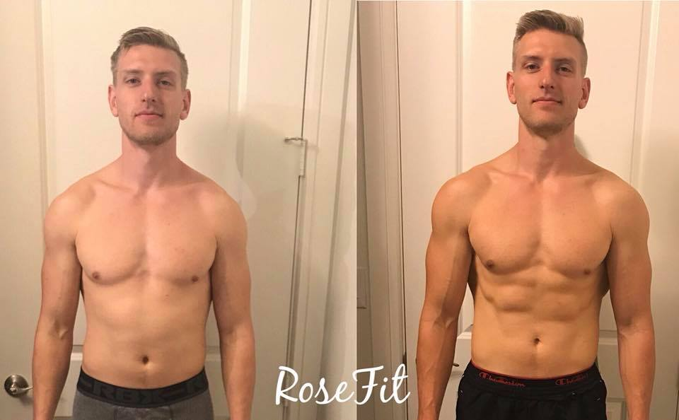 My husband did the challenge right before our wedding and here are the results!