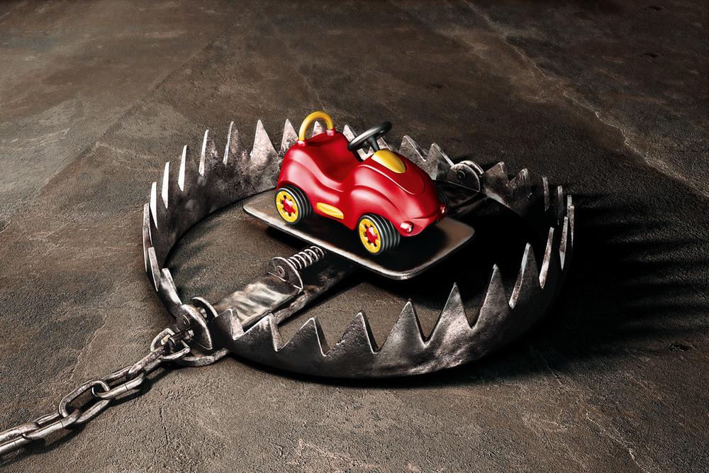 Armadilha brinquedo infantil