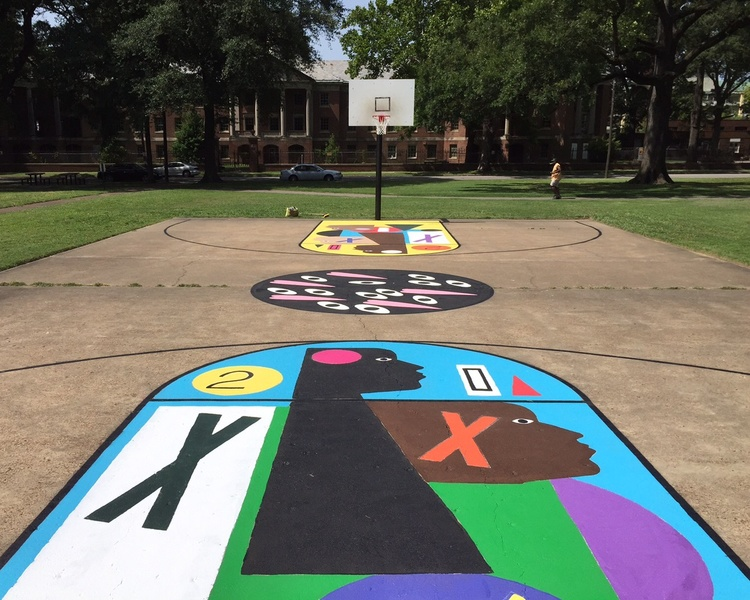 Chickasaw Heritage Park basketball court
