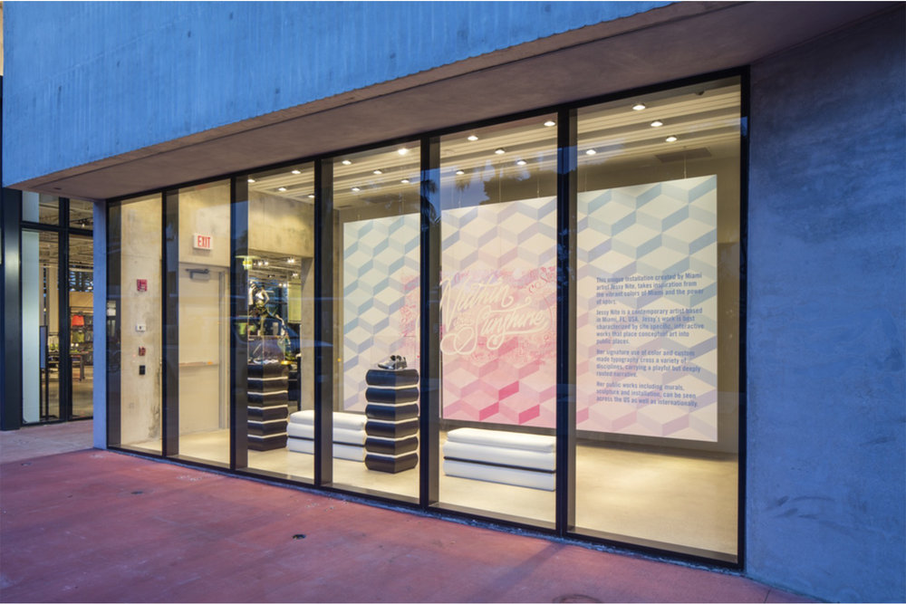 0009 Nike Commisions Artist Jessie Nite For Installation At Their New Miami Flagship Store