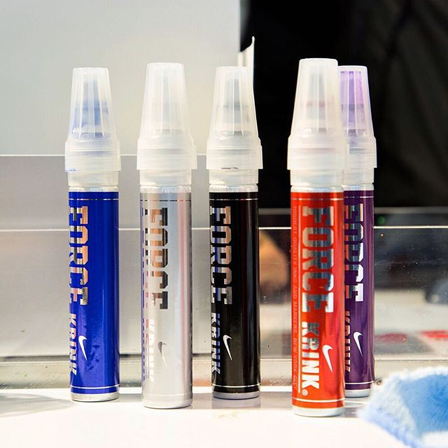 Custom KRINK paint pens were created in collaboration with Nike for the 'Make Your Mark' customization experience. #icnclstprojects #icnclst @krinknyc @nikenyc
