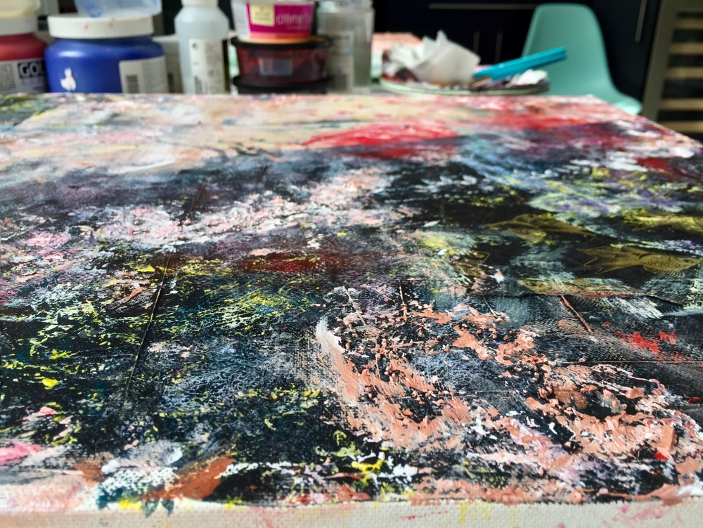 Close up of  Detritus . Work in progress.