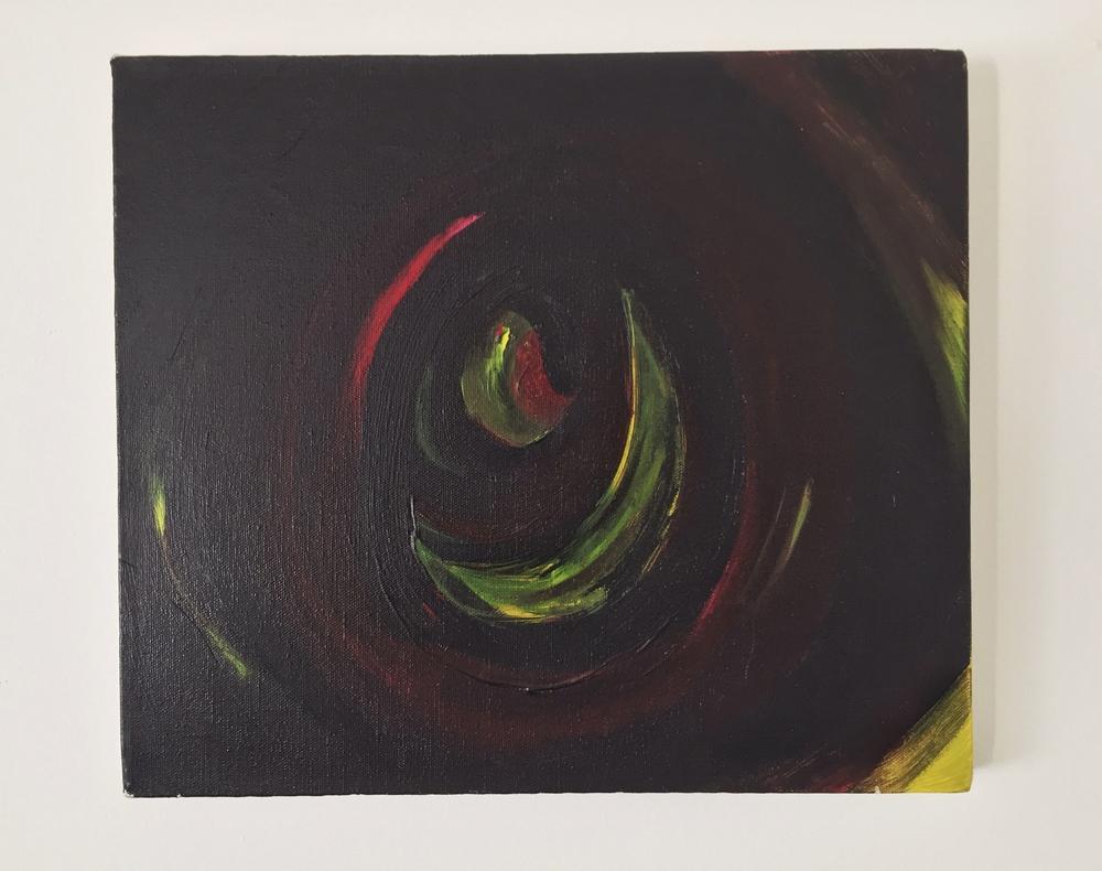 """Despair. 04/1999.  12"""" x 14"""".Acrylic on canvas."""
