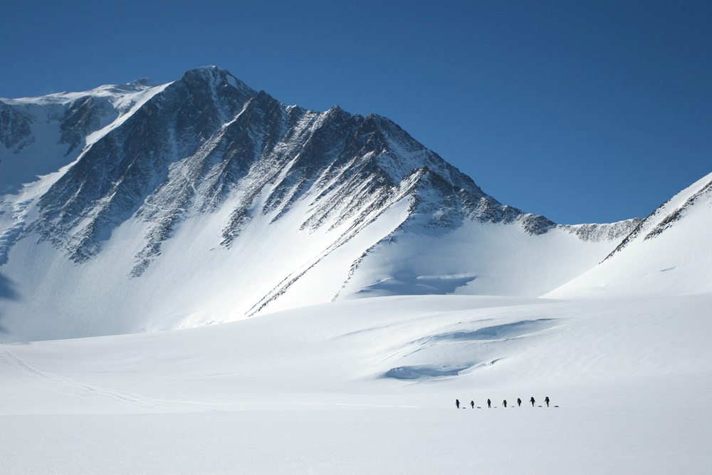 Vinson Massif (Antarctica)   Expedition Date:  2018 (preliminary)   Elevation:  16,050'   Summary : Antarctica is truly the last frontier. At 5.4m sq ft, the continent of ice and rock is larger than Europe. It has no government, no permanent population, is not ruled by a single country, and is the only continent without an indigenous population. It is the coldest continent on Earth. Mt. Vinson is a serious climb, one that requires sound cold-weather management skills and patience.  (excerpt, Climbing the Seven Summits, M.Hammill)