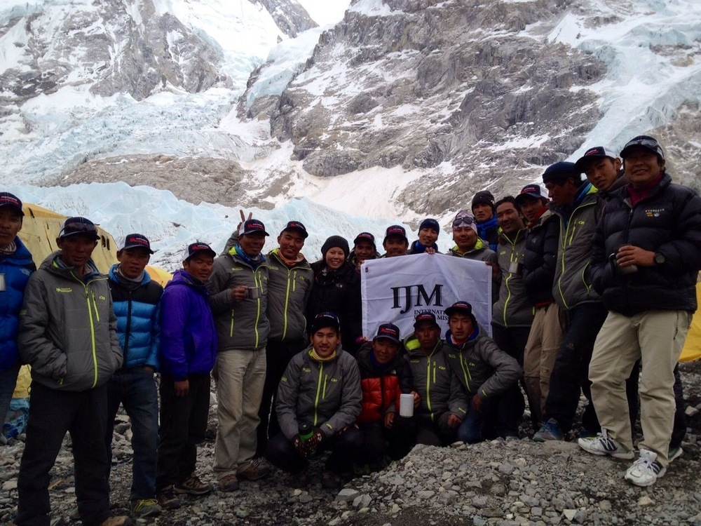 Sherpa buddies at the base of Everest