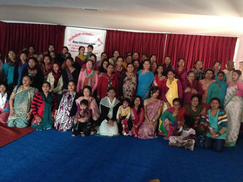 Leading a 2-day women's conference in Kathmandu