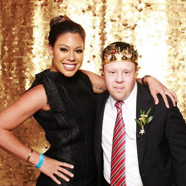 My new buddy, Reid, at prom last night. We danced, sang karaoke, ate, hung out with some of his friends, then danced some more. I didn't have a prom growing up, so I'm glad I FINALLY got to go and with a handsome man (then meet up with another handsome man at the end) #NightToShine