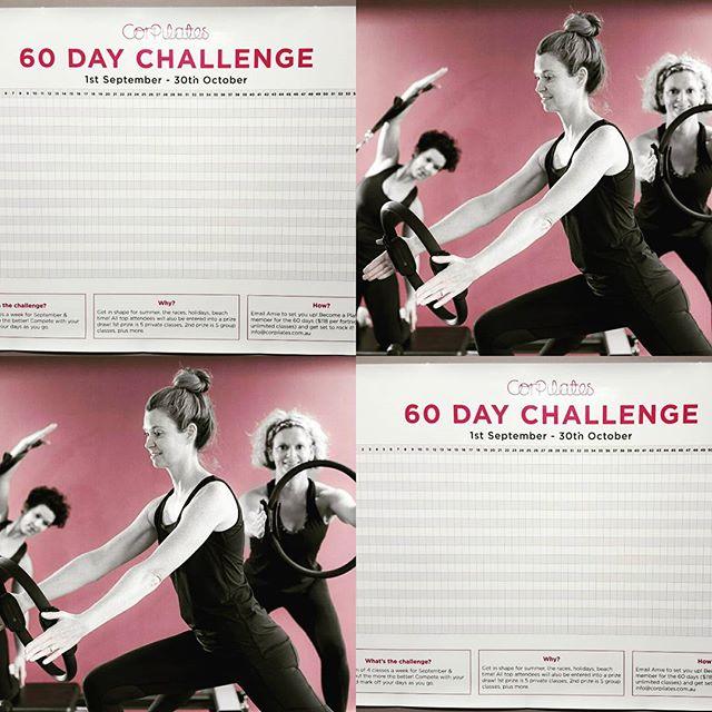 60 day challenge starts in 8 days!! Sign up and get ready for summer!! Email Amie for det's: info@corpilates.com.au  #pilateslovers #fitnesschallenge #prahran #windsor #reformerpilates #matpilates #fitnessandhealth