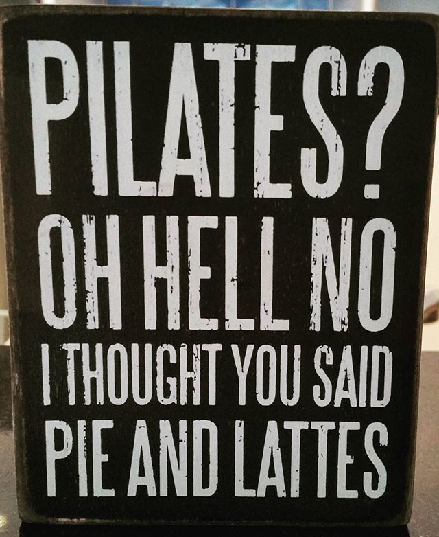 A little bit of pilates humour to start your week with 😉 #pilates #prahran #lifeistooshort #tuesday #KXPRAHRAN