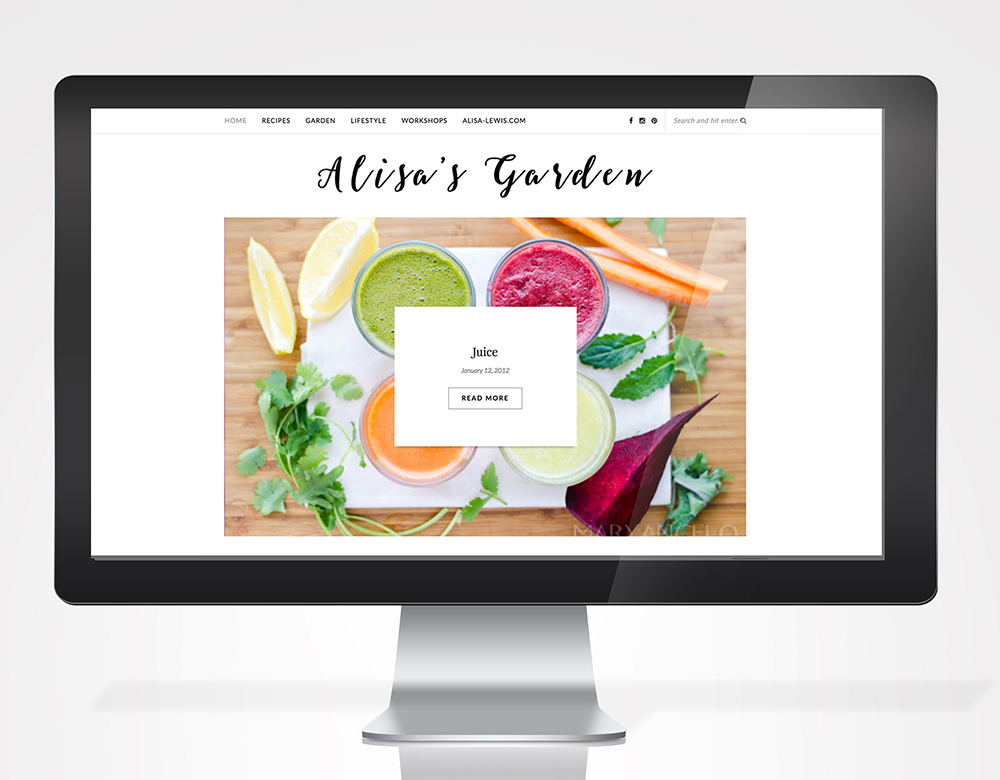 Wordpress blog for a food/lifestyle blogger