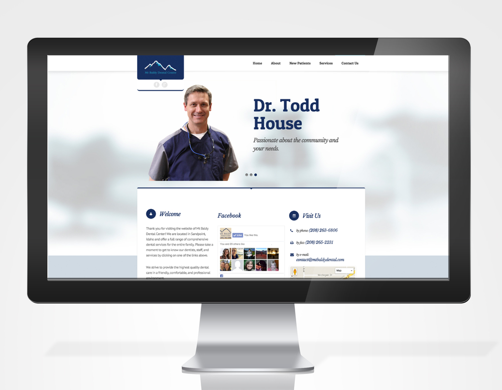 Wordpress website for a dentist office