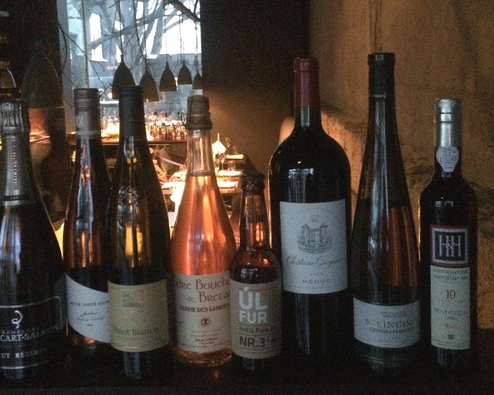 …wine pairings! -
