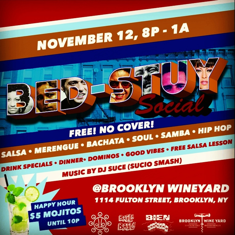 Tonight dancing y dominos at Brooklyn Wineyard. Shout out to Deka y Sucio Smash.