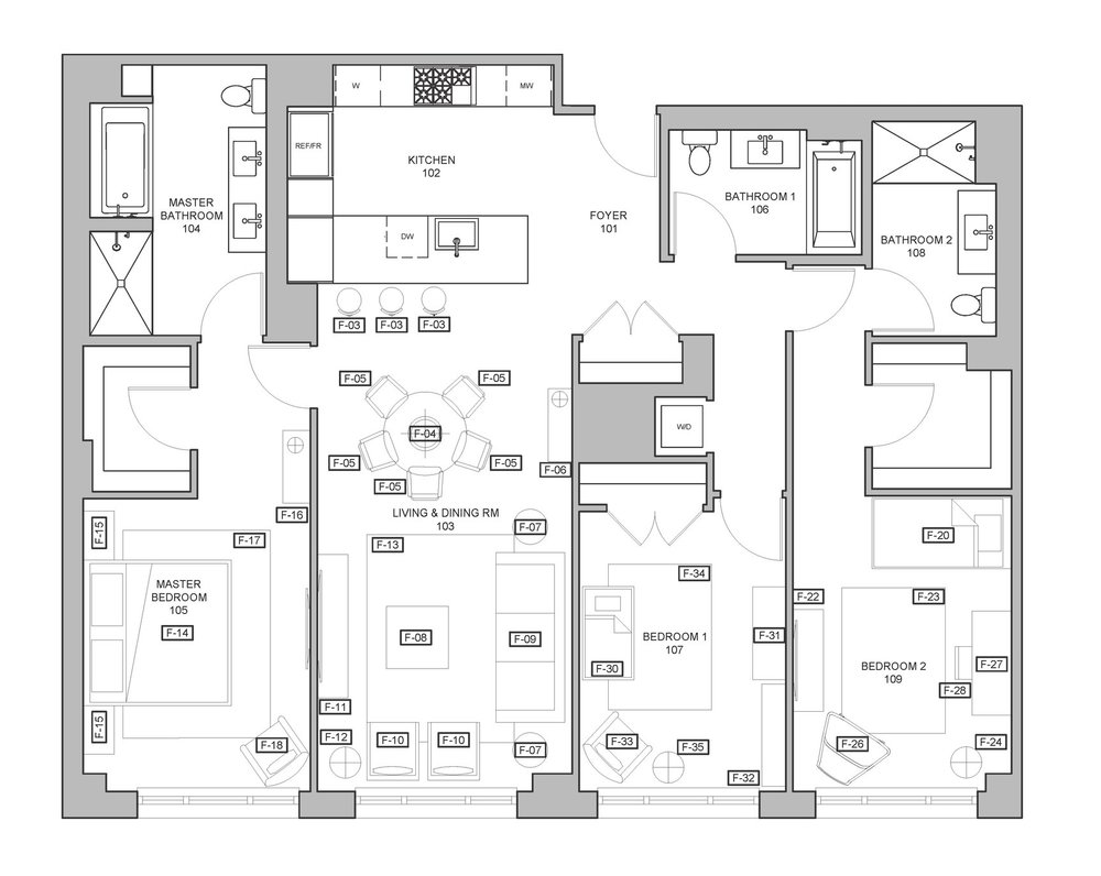 Floor Plan with Furniture Placement