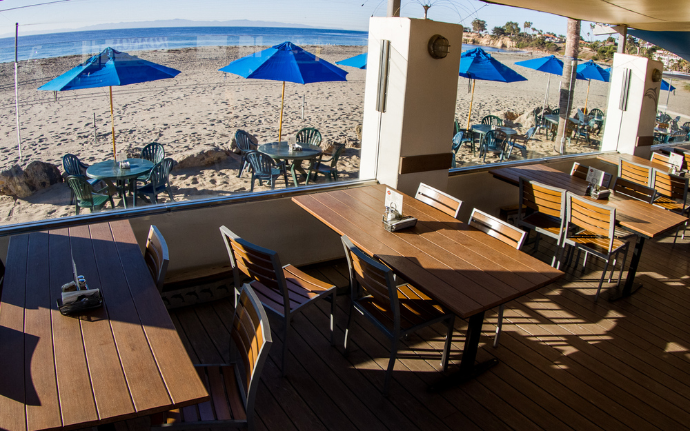 Restaurant Patio with Ocean View