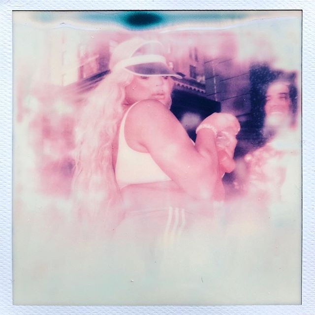 #pridenyc 2018 Rooftop of Dream hotel.  #pride #pride🌈 #prideparade #polaroidoriginals #polaroid #instagood #beautyeditorial #editorial #retro #vintage #pink #dreamy #love #nyc