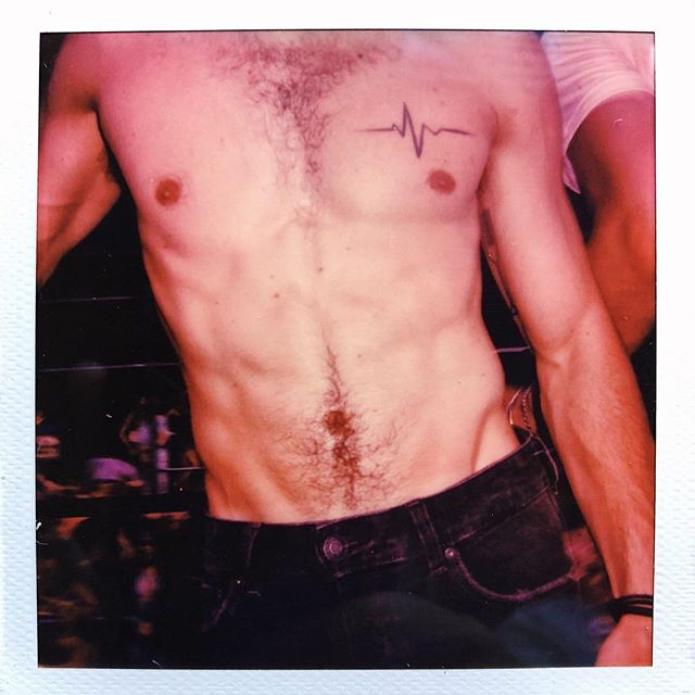 It's not pride without some #andywarhol inspired #Polaroid pics.  @oirtekim  #pride🌈 #polaroid #pridenyc #prideparade #instagay #shirtlessmen #malemodels #freshface #mensfashion #retro #polaroidoriginals #vintage