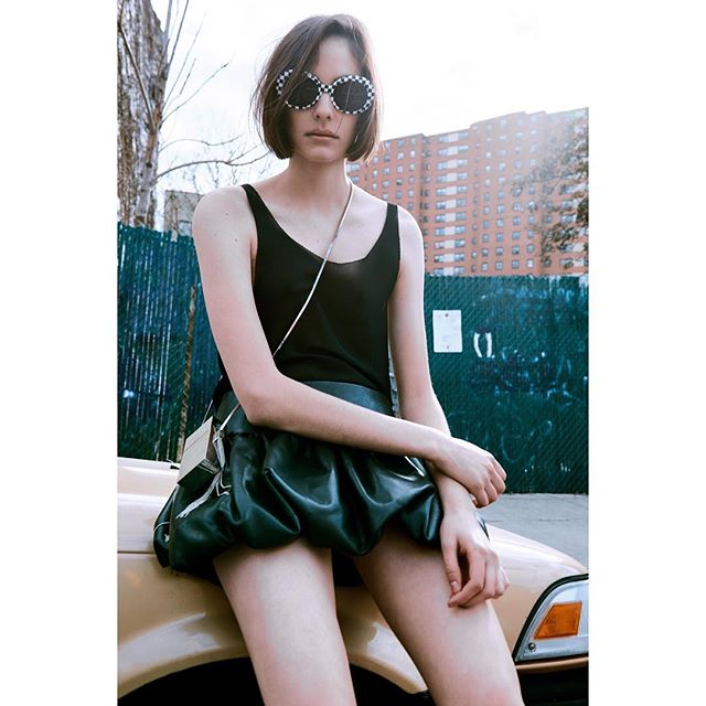 Unpublished work Styling: @lexrobins  MUA: @reganrabanal  Hair: @whosbibb  Model: @maddiemdawn  #beautyeditorial #fashion #editorial #femalemodel #stlaurent #luxury #leather #skirt #newyork#ny #nyc #pride🌈 #cats love #pretty #beautiful #sunglasses #grunge #softgrung