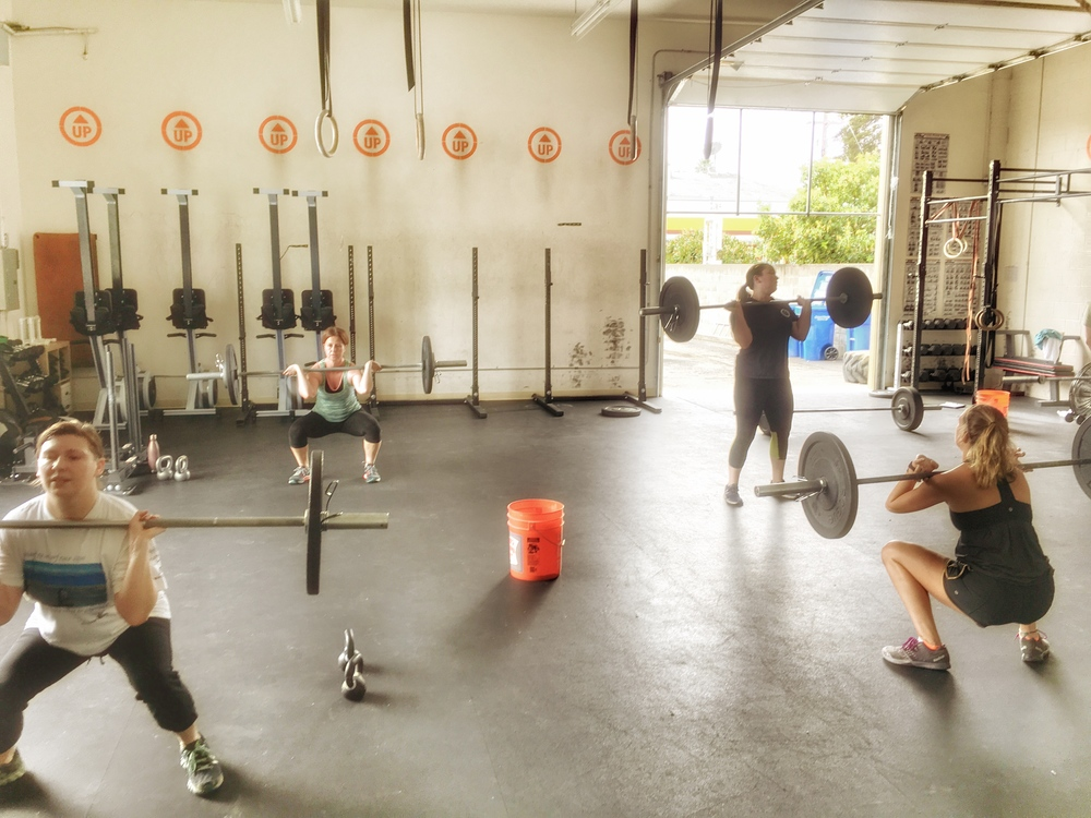 Sunday's class getting after it with Coach Nic!