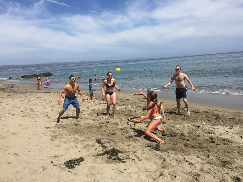 Fitness, friends and fun. Weekend Spikeball matchups put coordination, accuracy and stamina to the test, with lots of smiles and laughs.