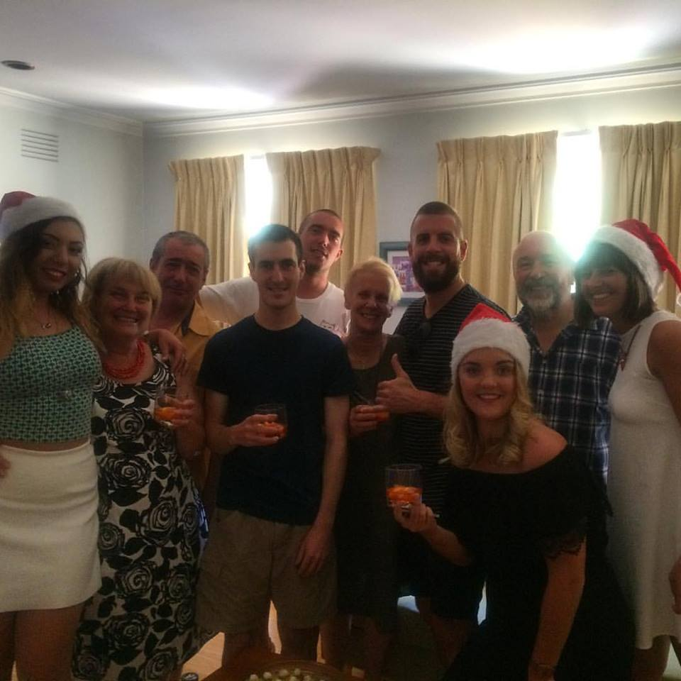 Christmas adoptive family.