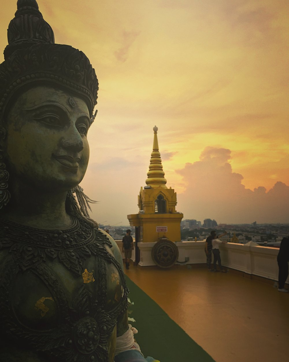 Sunset at the Golden Mount (Wat Saket)