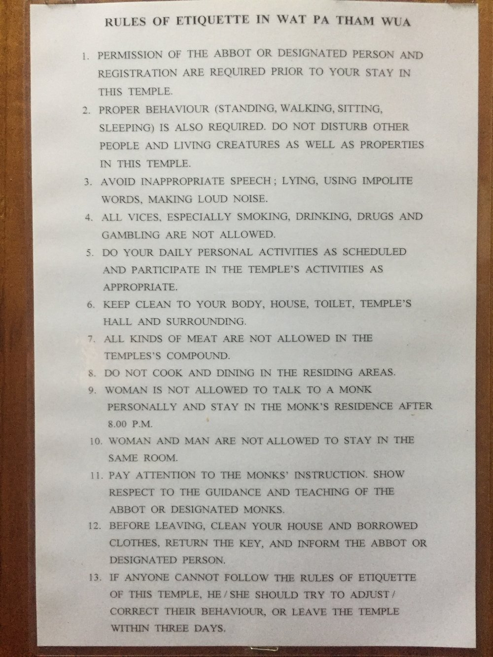 The rules. (Basically no fun...)