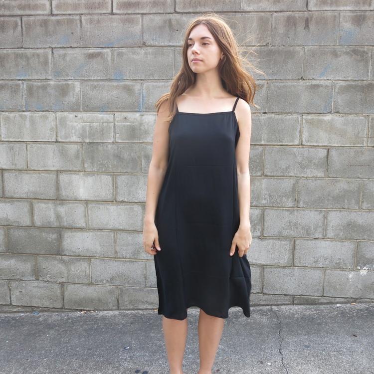 Best Basic Cotton Slip Dress Black Sunday Social