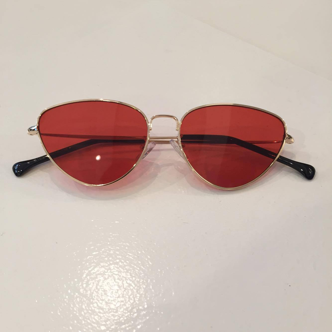 ca1593a5cc TINTED CATEYE SUNGLASSES (RED) — SUNDAY SOCIAL