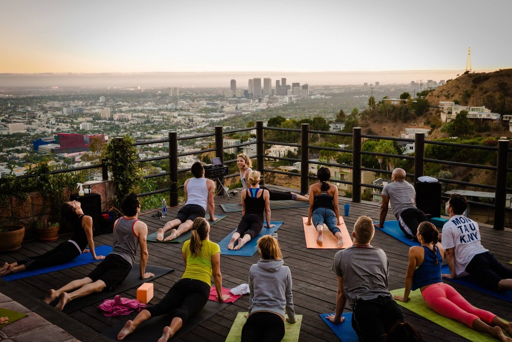 Teaching rooftop yoga at  RECREATION CAFE