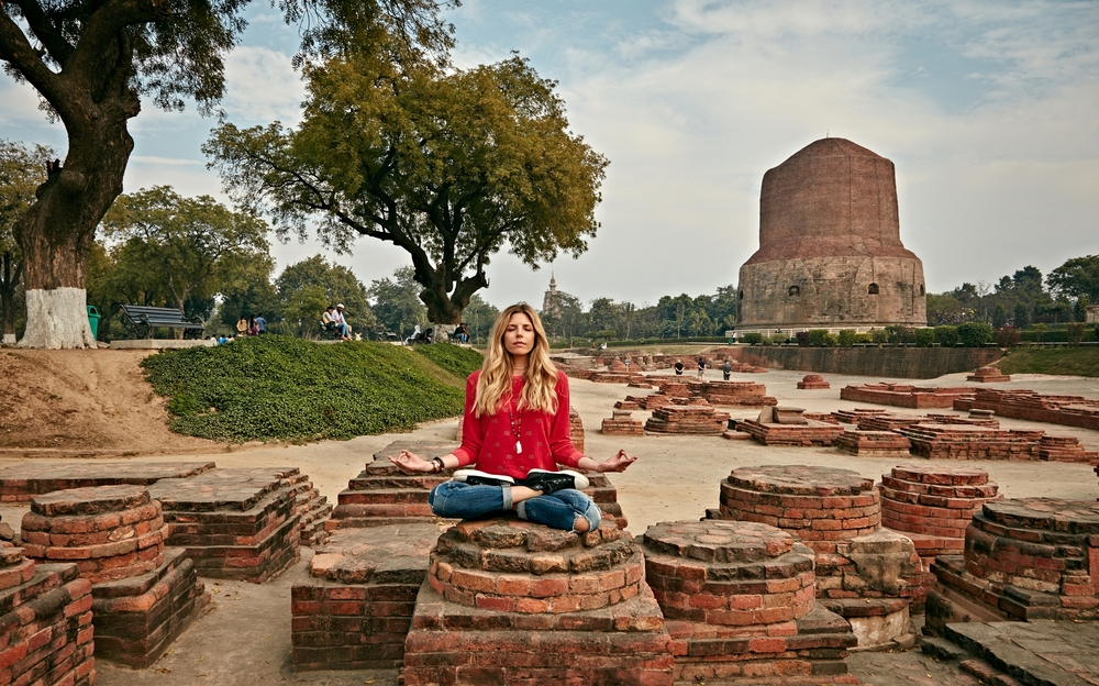 Monument site at  Sarnath, INDIA  where Buddha delivered his first teaching. Photo by Erik Almas