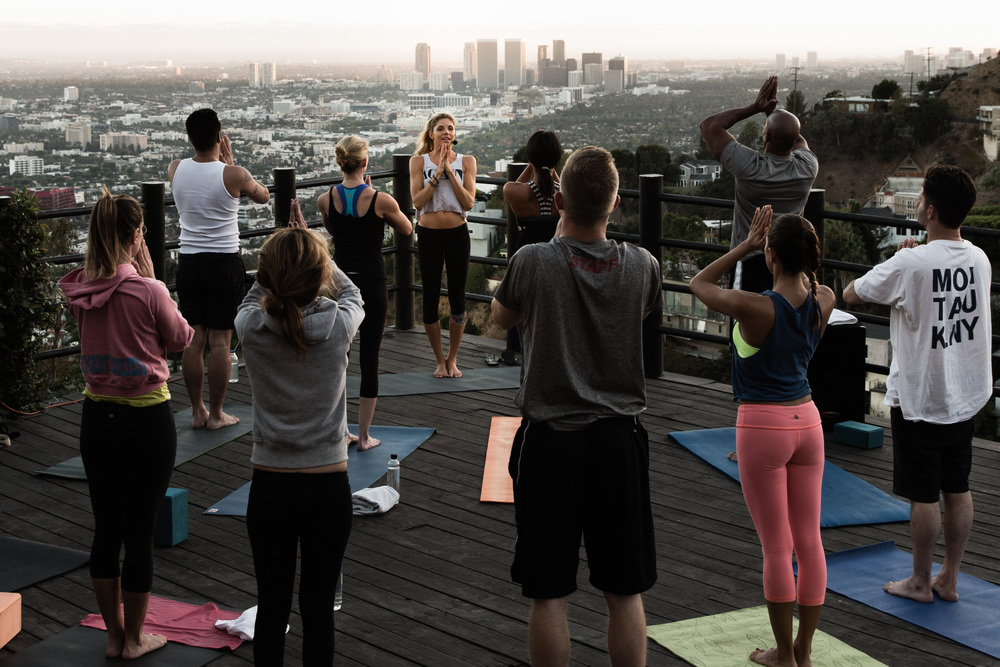 Photo by Chris Pan at roof top yoga