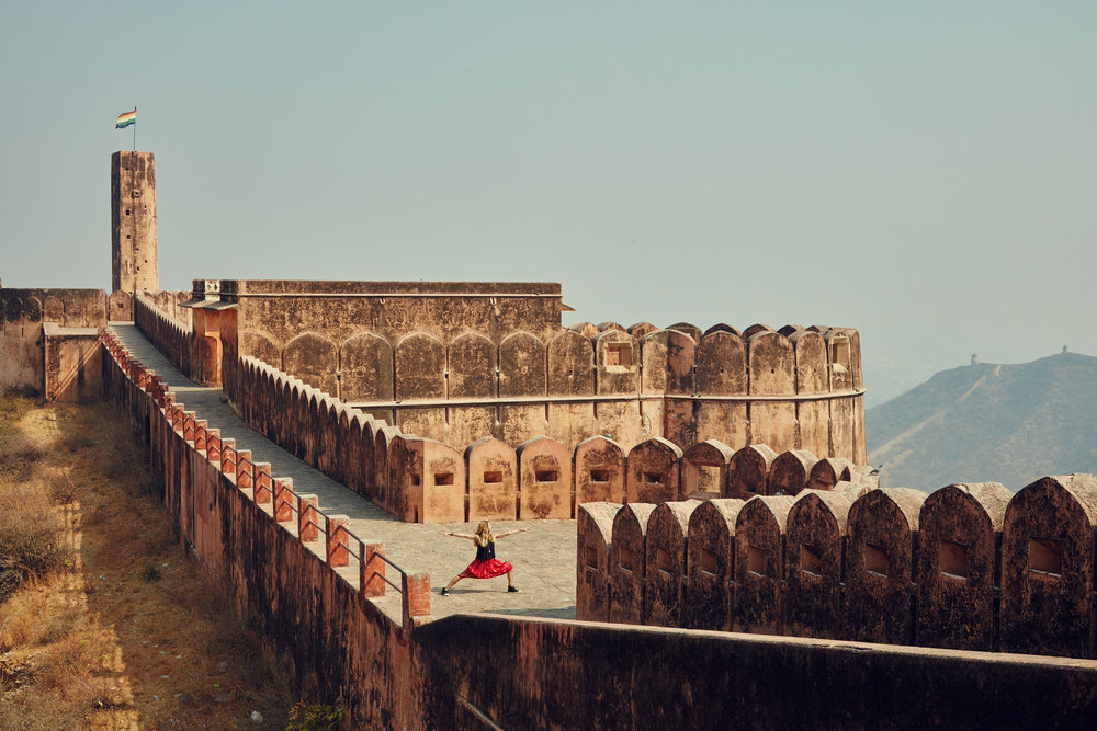 Wellness Influencer, yoga instructor Andrea Bogart Travels through india with Photographer Erik Almas.