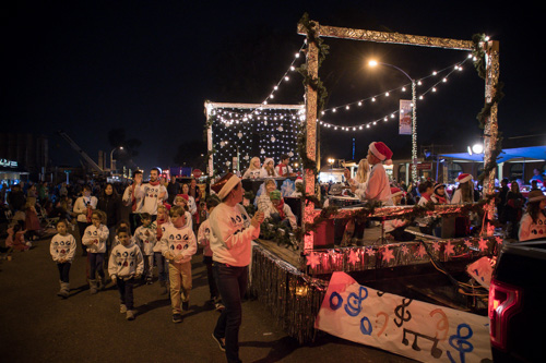 Encinitas Holiday Parade winning 3rd Place