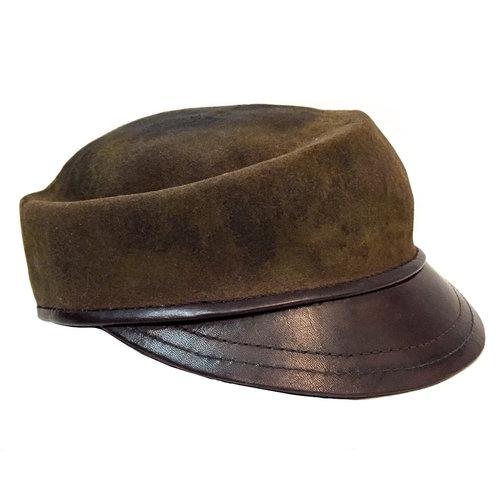 Treat felt fur flat cap — Lynn Paik 664d24bde4f